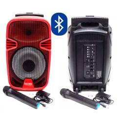 Караоке тонколона FEIYIPU ES-82, вграден акумулатор, MP3 плейър, SD карта и флашка, Bluetooth, 1 безжичен микрофон