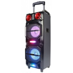 Преносима караоке тонколона Elekom EK-M210B, Bluetooth, USB, SD cart, 2 микрофона