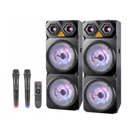 """2 броя 10"""" Тонколони за Караоке Zephyr Z-9999-2C10, Bluetooth, МП3 плейър, 2 бр. безжични микрофона"""